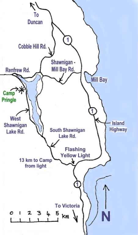 Map to Shawnigan Lake